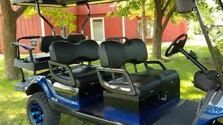2. Extended Stretch Limo Golf Cart, 2014 Yamaha Gas EFI Deluxe Street Ready