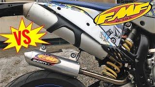 10. FMF shorty VS Stock KTM exaust - 250 2t comparative sound