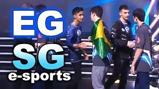 Commentary by TobiWan Purge, https://www.twitch.tv/dotamajor Dota 2 EG vs SG e-sports Brazil - KIEV MAJOR EPIC!