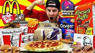 Video THE ULTIMATE AMERICAN FAST FOOD CHEAT DAY (30,000+ CALORIES) MP3, 3GP, MP4, WEBM, AVI, FLV Juli 2018