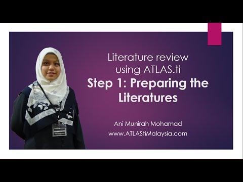 Lesson 3 - Literature Review using ATLAS.ti: Step 1: Preparing Literatures