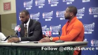 LeBron James And Dwyane Wade Game 3 Post-Game Press Conference Interviews