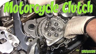 2. Changing Motorcycle Clutch Plates DRZ400SM (by in Idiot)