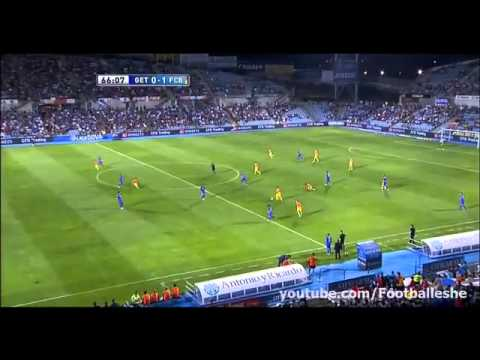 Referee EPIC FAIL ERROR MESSI PENALTY (Getafe Vs Barcelona)