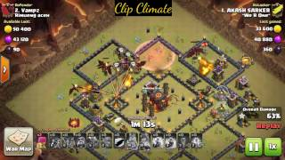 Video How to 3 star th10 ring war base 2017 || Unstoppable air attack || Best war attack MP3, 3GP, MP4, WEBM, AVI, FLV Mei 2017