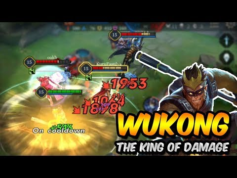 MASTER RANK WUKONG JUNGLE GAMEPLAY- THE KING OF DAMAGE! - Arena of Valor