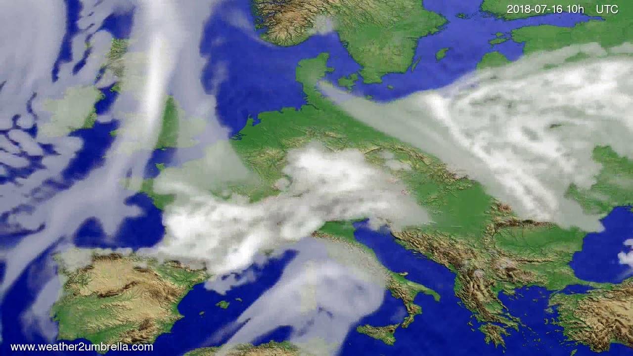 Cloud forecast Europe 2018-07-14