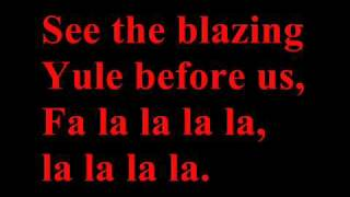 Deck the halls full band version with lyrics - Christmas song/carol