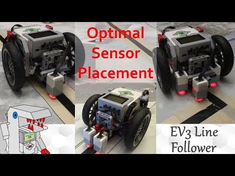 The Optimal Color Sensor Placement for EV3 Line Followers