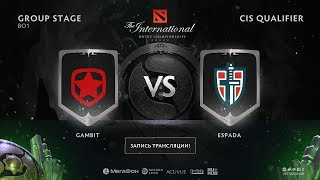 Gambit vs Espada, The International CIS QL [Jam, Maelstorm]