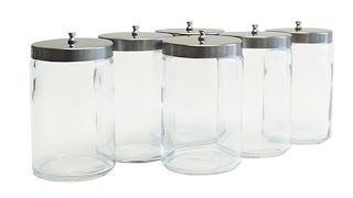 Grafco Unlabeled Flint Glass Sundry Jars