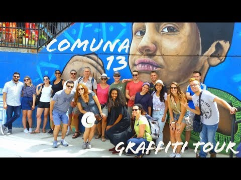 The BEST COMUNA 13 GRAFFITI TOUR in MEDELLIN, COLOMBIA! | THINGS TO DO IN MEDELLIN | COLOMBIA TRAVEL