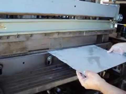 roladoras.plegadoras - plegadora guillotina y roladora neumatica. para chapas hasta 1mm de espesor.