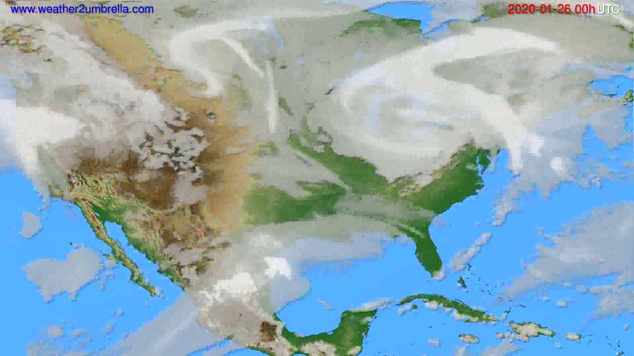 Cloud forecast USA & Canada // modelrun: 00h UTC 2020-01-25
