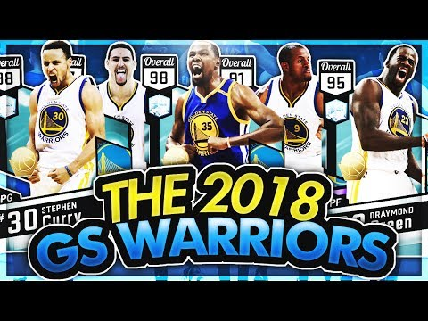 THE 2018 GOLDEN STATE WARRIORS IN NBA 2K17! DIAMOND CURRY HITTING THREES FROM HALF COURT?!