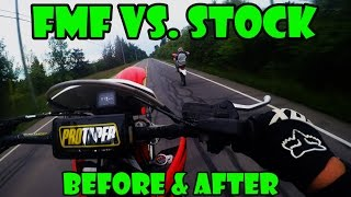 4. FMF vs Stock (crf450x)