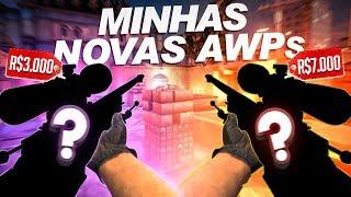 MINHAS AWPs DE R$10000 NO CSGO! *SKINS DE AWP MAIS RARAS DO CSGO*