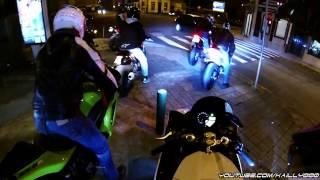 8. Winter Bike Night (Wheelies & COPS!!!!) - Yamaha R1 Crossplane 2011