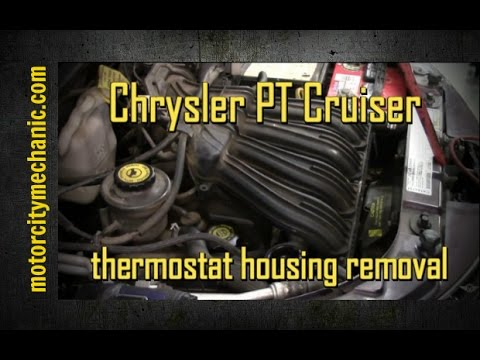2004 Chrysler PT Cruiser 2.4 upper thermostat housing removal and replacement