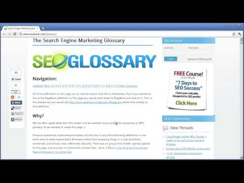 WordPress: SEO Book Glossary