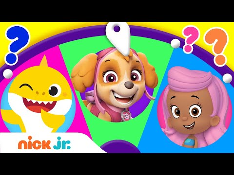 Spin the Wheel of Friends 🤩 w/ Baby Shark, PAW Patrol, & Bubble Guppies! Ep. 10 | Nick Jr.