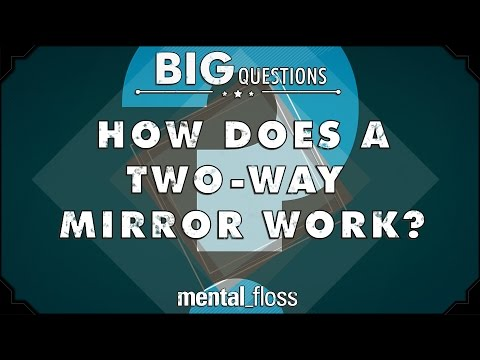How does a twoway mirror work