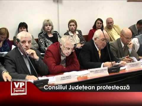 Consiliul Judeţean protestează