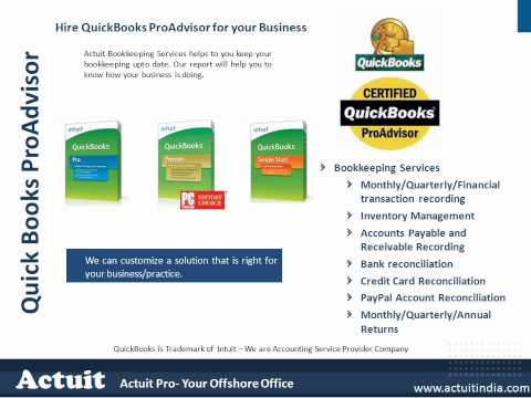 Accounting Services - Actuit is the name derived from (Accounting Intuitively). Actuit is an offshore back office accounting services provider in the vertical of finance, accounts...