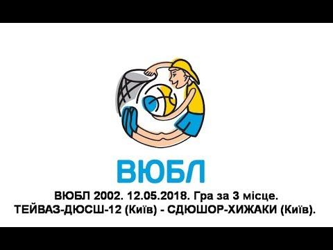 ВЮБЛ 2002. ТЕЙВАЗ-ДЮСШ-12 (Київ) - СДЮШОР-ХИЖАКИ (Київ). 12.05.2018. Гра за 3 місце