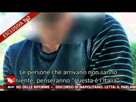 Come animali Lampedusa, il video choc