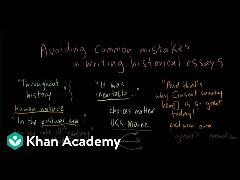 Essay On African American History  Example Of College Admission Essay also Juvenile Delinquency Essay Avoiding Common Mistakes In Historical Essays Video  Khan Academy The Best Persuasive Essay Topics