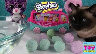 Hi, Paul and Shannon here and we love to open and collect all kinds of toys. It's time for more surprise bath bomb fizzles. We don't know what toys are hiding ...