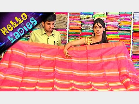 Latest Collections of Brasso Georgette and Silk Kota Sarees || Hello Ladies || Vanitha TV 08 February 2016 01 24 PM