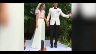 Nev Shulman of MTV's Catfish finally marries Laura Perlongo with their children. The couple was married by video blogger Casey Neistat. Nev and Laura cuddled with their toddlers who were in a wagon after the outdoor...