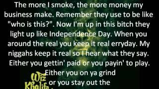 Rooftops - Wiz Khalifa ft. Curren$y (LYRICS)