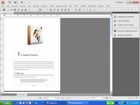 FrameMaker - Creating Custom Master Pages