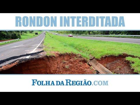 Trecho da rodovia Marechal Rondon é interditado em Rubiácea