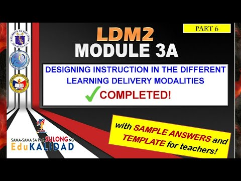 LDM2 MODULE 3A with COMPLETE Answers and Template