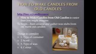 How to Make Candles from Old Candles-How to Make New Candles out of Old Ones - YouTube