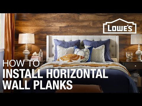 How To Install Laminate Planks Horizontally On A Wall