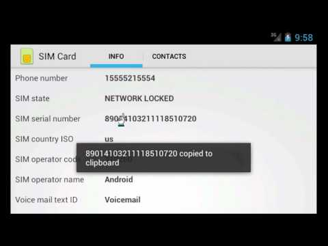 Video of SIM Card