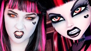 Video MONSTER HIGH Gothic Draculaura MAKEUP TUTORIAL MP3, 3GP, MP4, WEBM, AVI, FLV April 2018