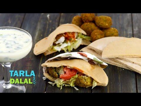 Falafel, Lebanese Falafel stuffed in Pita Bread by Tarla Dalal