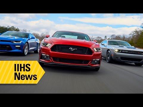 El Mustang sale airoso ante el Camaro y el Challenger en las pruebas de seguridad del iihs