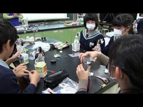 種子島の学校活動:榕城小学校風力発電機を作ろう工作体験くらりか