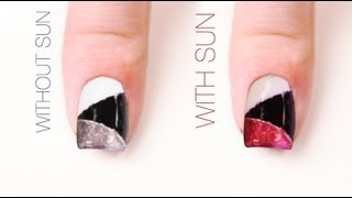 Triangles Color-Changing Nail Art Design