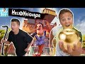 Hello Neighbor In Real Life! | Finding the Golden Apple!