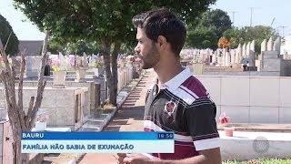 Família questiona cemitério por exumação sem autorização e denuncia caso à polícia