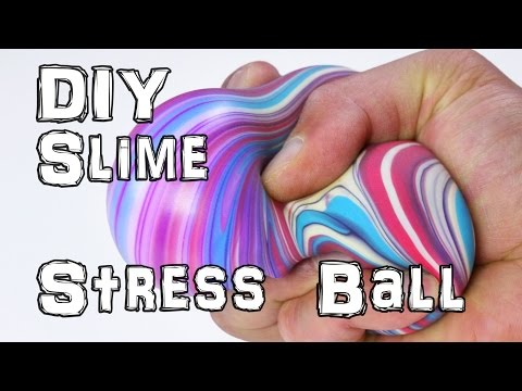 How to Make DIY Slime Stress Balls (видео)