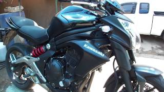 10. Kawasaki ER6N 2013 review test and update in Chiang Mai, Thailand matte black